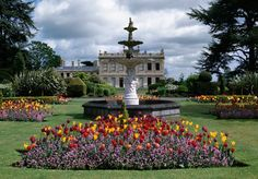 The formal elements of Brodsworth Hall's gardens bear the hallmarks of Thellusson's original Italian ideas, created to enhance the new white limestone house. Limestone House, Gardens Of The World, Victorian Gardens, Different Shades Of Green, Geometric Flower, English Heritage, Grand Homes, Formal Gardens, The Good Place