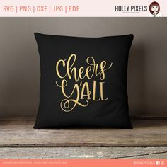 New Years SVG Cheers Yall Cricut SVG Files by HollyPixels on Etsy Cheers Yall! This adorable hand lettered design New Years SVG features a unique design that would make a perfect addition to your crafty projects. You can add it to pillows, t-shirts, champagne glasses or signs for your New Years Eve Party with your Cricut or Silhouette cutting machines. It's cheery and fun!