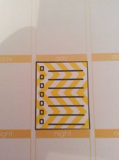 25 Chevron pattern check list stickers for your planner