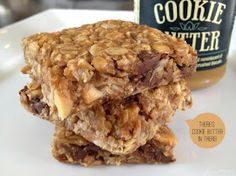 Cookie Butter Granola Bars! Yum!