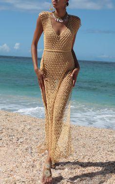Discover thousands of images about Crochet Fishnet Long Dress,Evening Maxi Dress,Summer Women Dress. Crochet Beach Dress, Black Crochet Dress, Knit Dress, Crochet Dresses, Mode Crochet, Moda Boho, Crochet Fashion, Crochet Clothes, Pulls