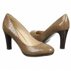 Women's Anne Klein Clemence Taupe Croco Patent Shoes.com