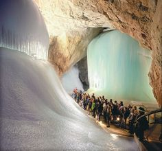 Eisriesenwelt (World of the Ice Giants), the largest ice cave in the world in Tennengebirge, Austria