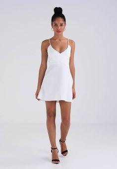 Missguided STRAPPY WRAP SKATER DRESS - Freizeitkleid - white - Zalando.at Missguided, Skater Dress, Dresses, Fashion, Skater Dresses, Curve Dresses, Vestidos, Moda, Fashion Styles