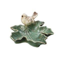 Ceramic Leaf Dish with Bird  $3.99