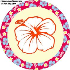 plantillasdecorativasparaunafiestahawaiana  flor  Pinterest