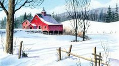old farmhouse winter paintings - Bing Images