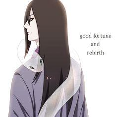 Orochimaru - Snake: Good fortune and rebirth.