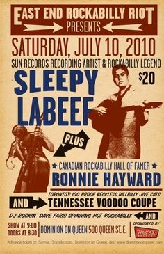 Sleepy Labeef and Ronnie Hayward on the same bill. I bet that was fun.