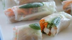 Lilydale Hoisin chicken rice paper rolls
