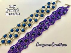Beaded Bracelet DIY ( Square Stitch) - YouTube