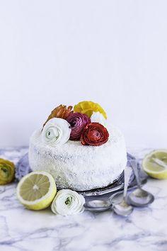 White Chocolate limoncello layer cake