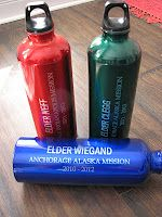Personalized water bottles - idea from crafty-candy.blogspot.com