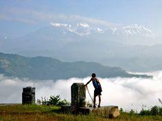 Morning Himalayan view fom Pokhara, Nepal