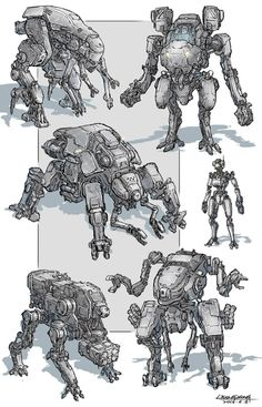 Cocept Mech in 2031 Character Concept, Character Art, Character Design, Science Fiction, Robots Characters, Arte Robot, Cool Robots, Sci Fi Armor, Arte Cyberpunk