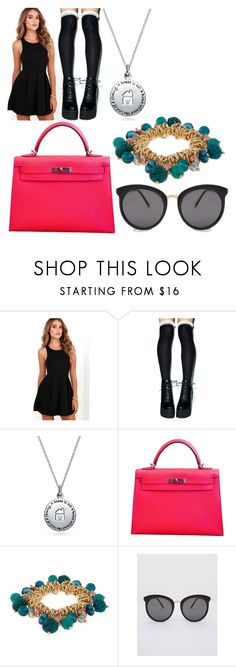 """Sunglasses"" by kaoyerthao ❤ liked on Polyvore featuring LULUS, Peony & Moss, Bling Jewelry, Hermès and Erica Lyons"