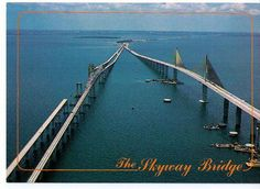 Sunshine Skyway Bridge, The New and the Old, Tampa Bay, Florida