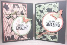 Sheer Perfection Vellum Class Cards. Stampin' Up, cards, butterflies, sale-a-bration.  Details at www.toocoolstamping.com