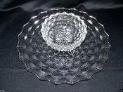 Indiana Glass American Whitehall Clear Chip Dip Tray