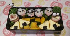 319 Cal - Panda Sushi Roll Bento #goodnutrition #physicalactivity #goodfood #vegetables #JuicePlus #healthymeal #healthyfood #healthy #health #exercise #eatclean