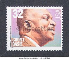 US Stamp 1996  - Pianist and Big Band Leader Count Bassie