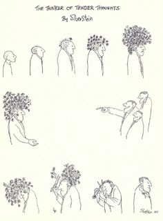 The Thinker of Tender Thoughts: An illustration by Shel Silverstein, 1963 - 22 Words Infp, Introvert, Psy Art, Faith In Humanity, Illustrations, Graphic, Beautiful Words, Art Inspo, Decir No