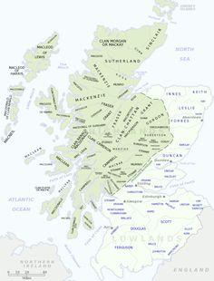 Scottish clan map - Schottischer Clan – Wikipedia