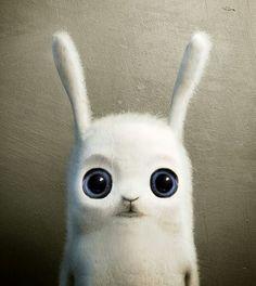 Cute Bunny BigEyes Rabbit Ears Furry