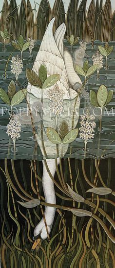 Famous Swan Painting | Painting the Hamptons: Sag Harbor Swan