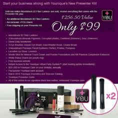 I'm on a hunt for 10 presenters If you: ✗ Love makeup ✗ Motivated ✗ Determined ✗ Love to take selfies ✗ Need extra cash .... then this is PERFECT for you! Benefits ✔ Work from home ✔ Work your own hours ✔ Get paid every 3 hours ✔ No monthly fees ✔ No autoship sign up required ✔ Free Business website ✔ Get products at a discount for yourself ★Check our NEW Starters Kit which includes TWO of our NEW 3D Fiber Lashes for NEW signups!★ (and FREE SHIPPING) Only $99 to get started
