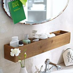 Simply beautiful and straightforward - this cute wall shelf ensures that your bathroom utensils are always kept organised and tidy. No assembly required.