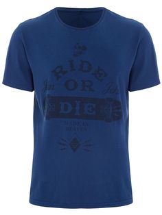 CAMISETA MASCULINA RIDE OR DIE - AZUL