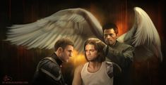 Wanda and Vision seem to be busy so here's another crossover. Castiel came to heal Bucky's scars.
