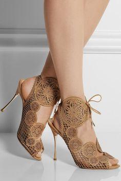 Impressive Cut-Outs Lace-Up Stiletto Dress Sandals