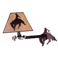 Wyoming Cowboy Wall Mount Light