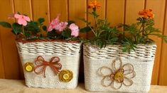Jana Melas Pullmannová: Samozavlažovací kvetináč Straw Bag, Burlap, Reusable Tote Bags, Blog, Diy, Decor, Youtube, Jute, Scrappy Quilts