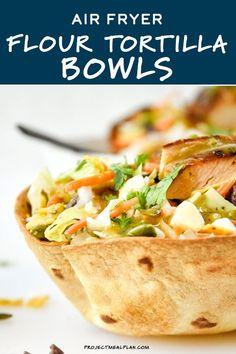 Air Fryer Dinner Recipes, Air Fryer Recipes, Appetizer Recipes, Appetizers, Taco Salad Bowls, Tortilla Bowls, Healthy Food, Healthy Eating, Healthy Recipes