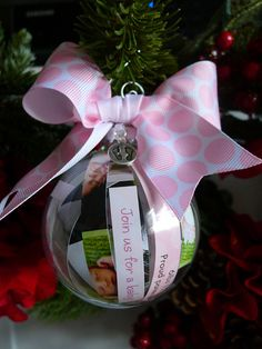 Super cute baby's first Christmas ornament