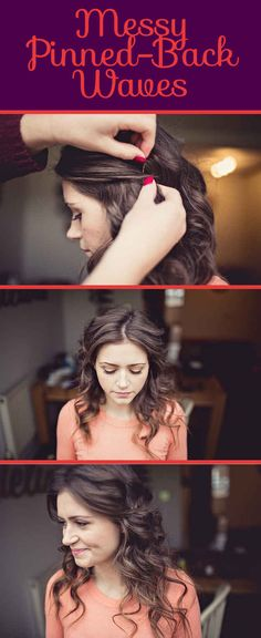 Love it!!!! Messy Pinned-Back Waves | 26 DIY Hairstyles Fit For A Princess