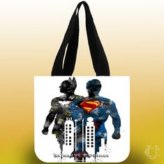 Batman Vs Superman Pain Art Tote Bags