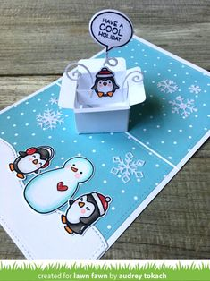 lawn fawn mini pop up box Pop Up Christmas Cards, Christmas Pops, What Is Christmas, Xmas Cards, Christmas Greetings, Fun Fold Cards, Folded Cards, Tarjetas Pop Up, Lawn Fawn Blog