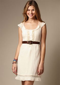this dress is so cute... would look good with cowgirl boots, even though you will probably never catch me in a pair.