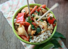 Roasted Winter Vegetables In Thai Red Curry With Optional Chicken by Kitchen Treaty