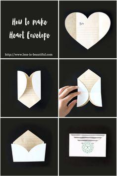 開くとハート型になる封筒の作り方(無料テンプレート配布)