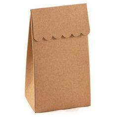 Great Idea! Spruce up a plain brown bag with scallop edges! #gift
