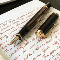 Pelikan M400 Tortoiseshell Brown with 4001 Brilliant Brown.  Absolutely exquisite. . . . #pelikanpen #pelikan #fountainpen #fpgeeks #penaddict #fountainpens #writing #script #brown #tortoiseshell #tortoise #inkdex #inkjournal #journal #notebook #penporn