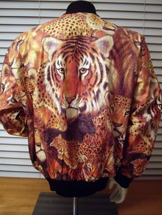Tiger Tyvek Jacket -- Large -- Tigers and Lions All Over Print. $25,00, via Etsy.