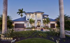 Transitional West Indies Style Home Plan – Waterfront Wonderland – Outdoor Ideas Bahama Shutters, West Indies Style, Cottage Style House Plans, Custom Home Plans, British Colonial Style, Balcony Design, Florida Home, Naples Florida, House Colors