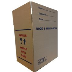 Moving house book boxes for all those smaller items. These Cartons are New on the floor at our warehouse, readily available. Cardboard Cartons, Cardboard Rolls, Skid Pallet, Corrugated Sheets, Carton Design, Book Boxes, Moving Boxes, Carton Box, New Books