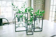 """Chip and Joanna Gaines are the stars of HGTV's show """"Fixer Upper"""" who also have an amazing store called Magnolia. This """"Metal Framed Vase Set"""" is everything. Love how the glass jar insets soften the stark minimalist lines! Perfect addition to my bathroom countertop for that spa-like look. Ordering!!"""